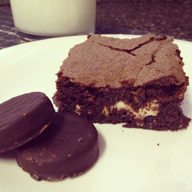 York Peppermint Pattie Brownies