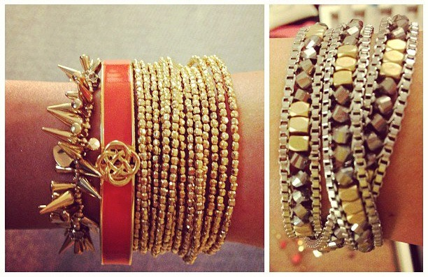 arm party bracelets and bangles