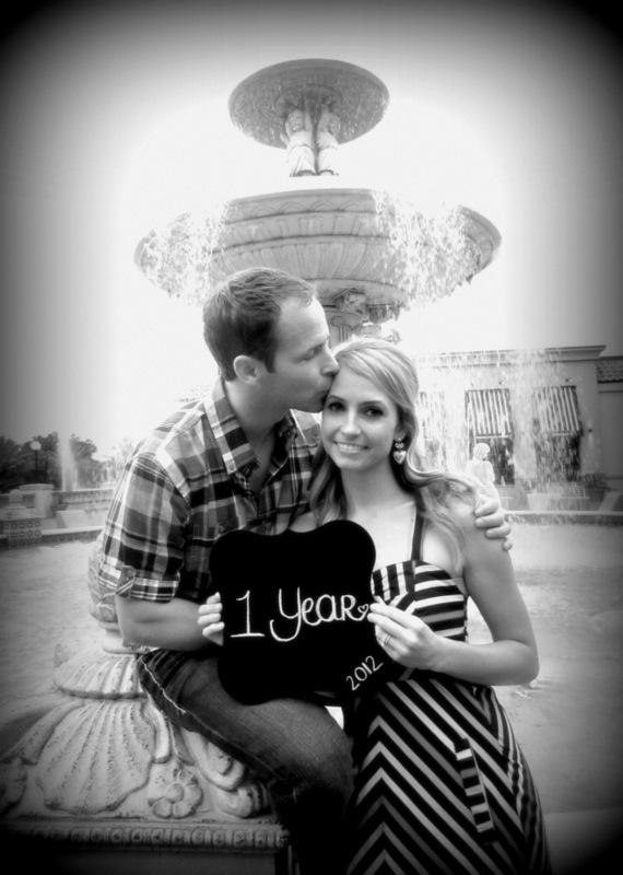 Anniversary Photo - Year 1 black and white
