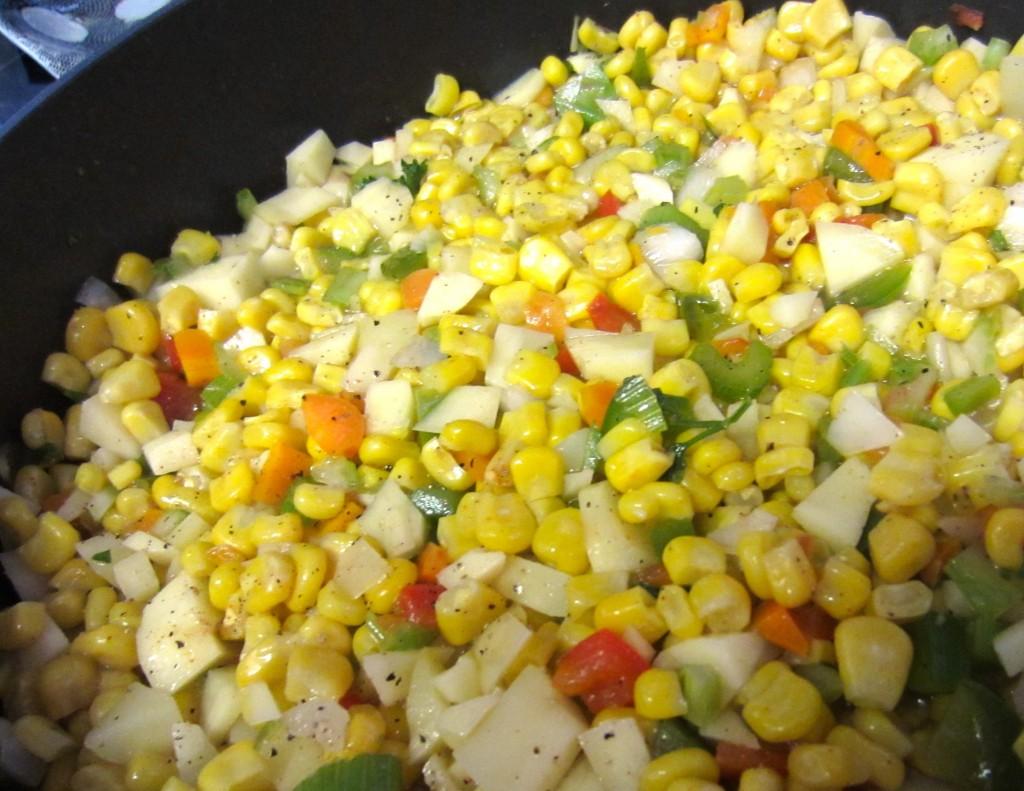 Corn Chowder on stove top
