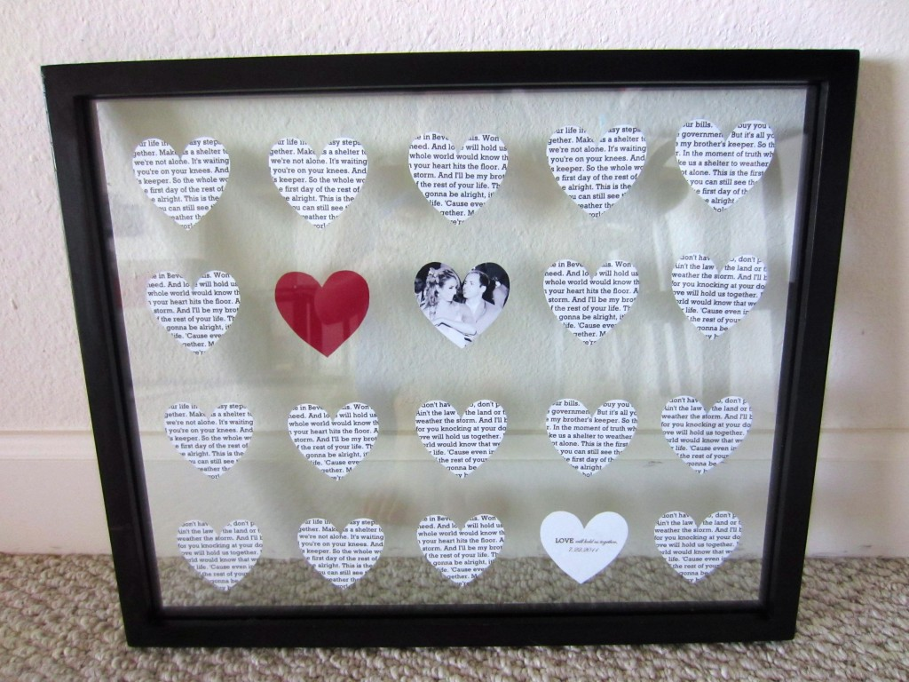diy wedding anniversary gift | life in leggings