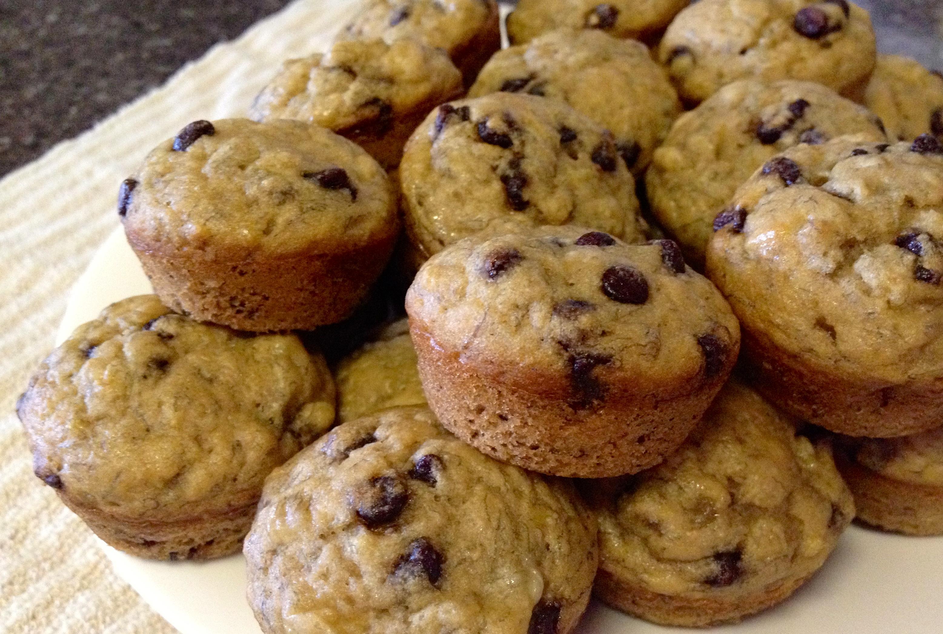 Banana Chocolate Chip Mini-Muffins
