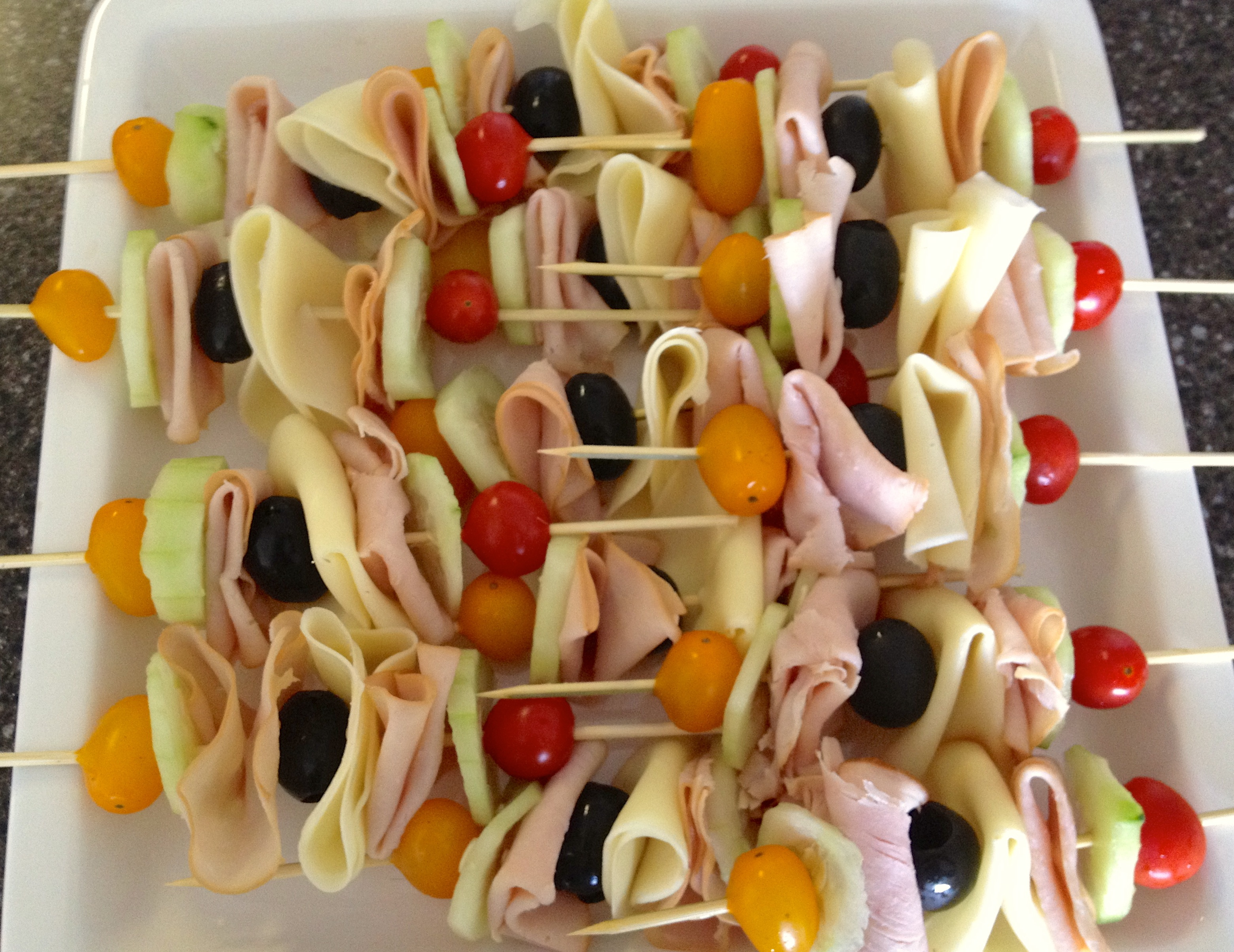 party food sandwich skewers