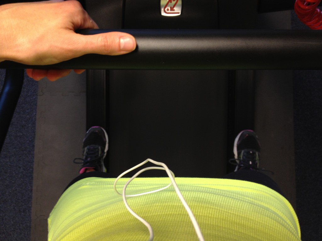 rest on treadmill during intervals