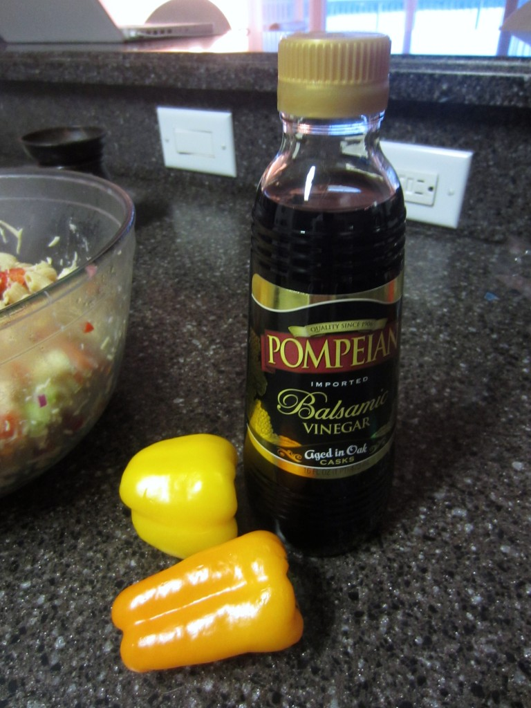 balsamic vinegar and peppers