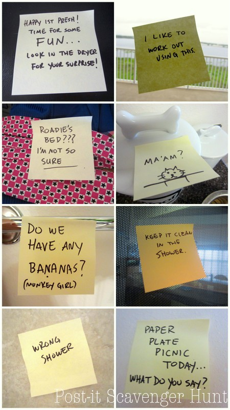 Post-it Scavenger Hunt