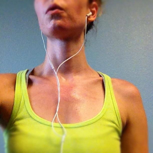 sweaty treadmill workout