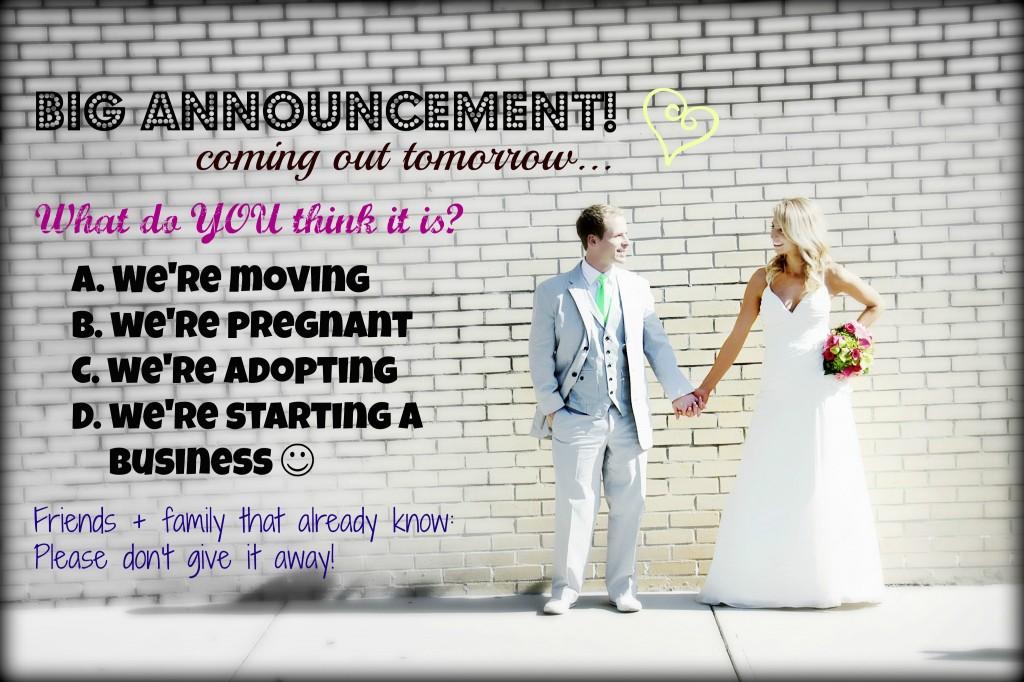 Fun way to make an announcement