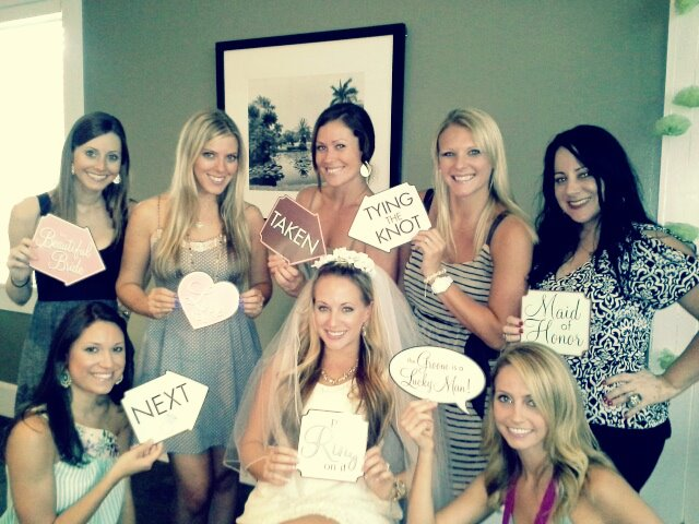 Cute Bridal Shower Photo Signs