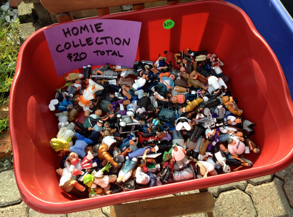 Homie Collection at garge sale