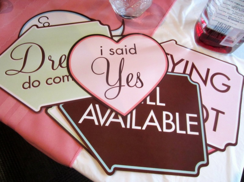 bridal shower photo signs