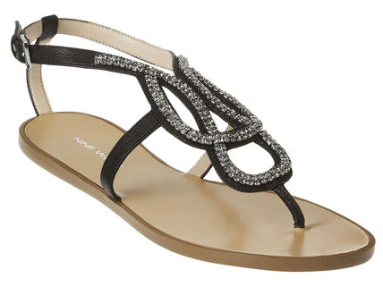 Nine West Twistshout Sandal in Black