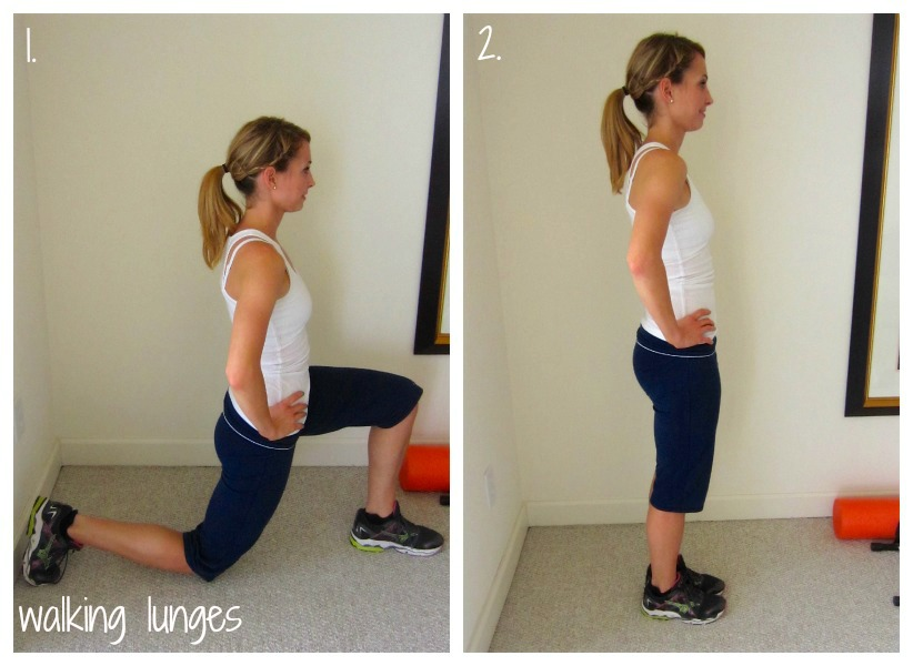 Walking Lunges Stretch