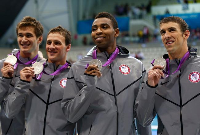 usa mens swimming gold olympics