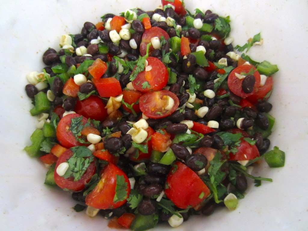 Chop and MIx Black Bean Ingredients