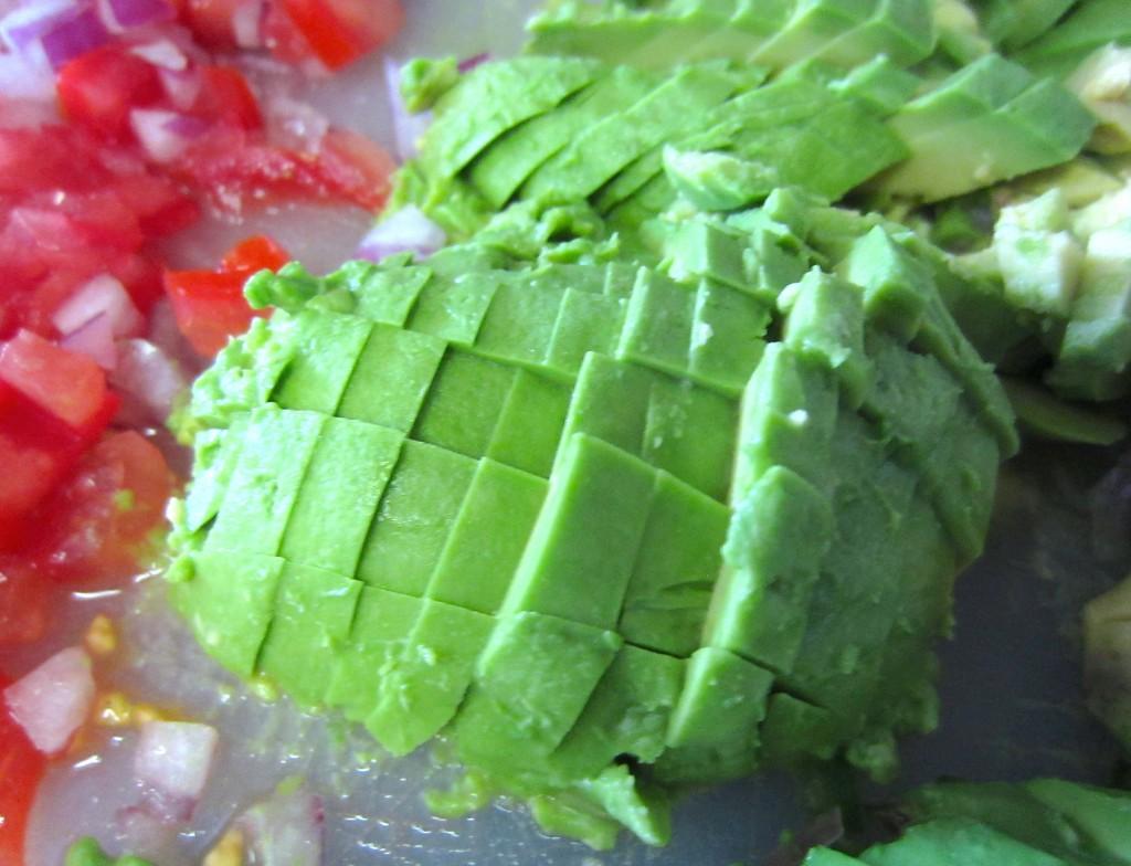 Cutting Avocado for Guacamole