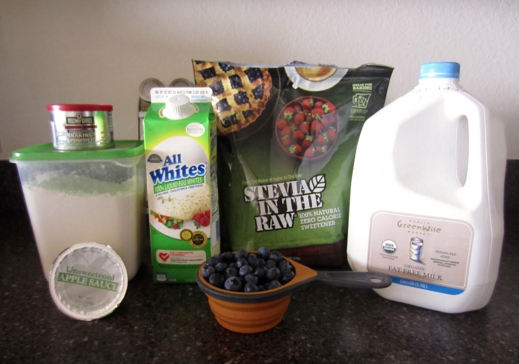 Healthy Blueberry Muffins Ingredients