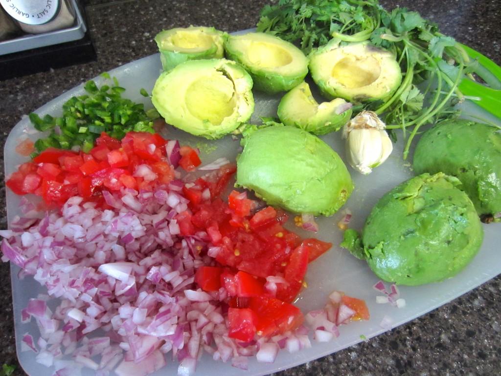 Healthy, Easy Guacamole Ingredients