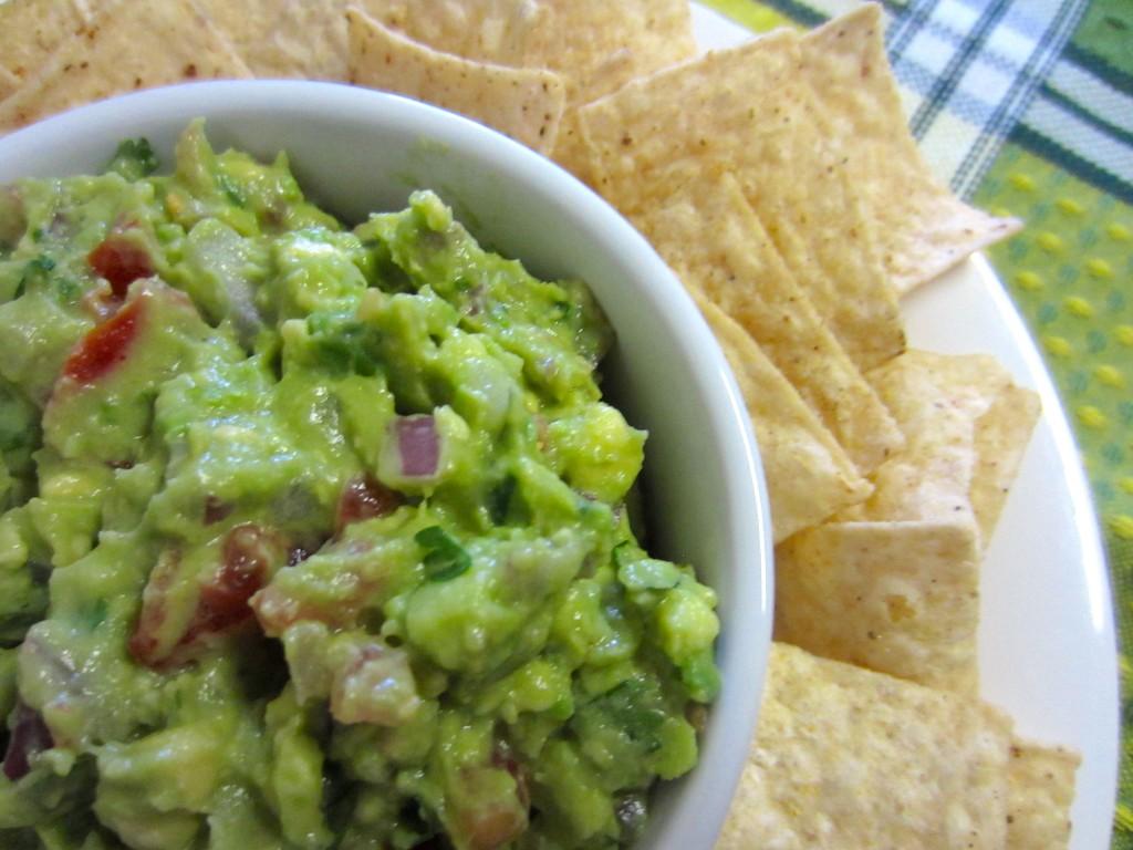Healthy Guacamole Closeup