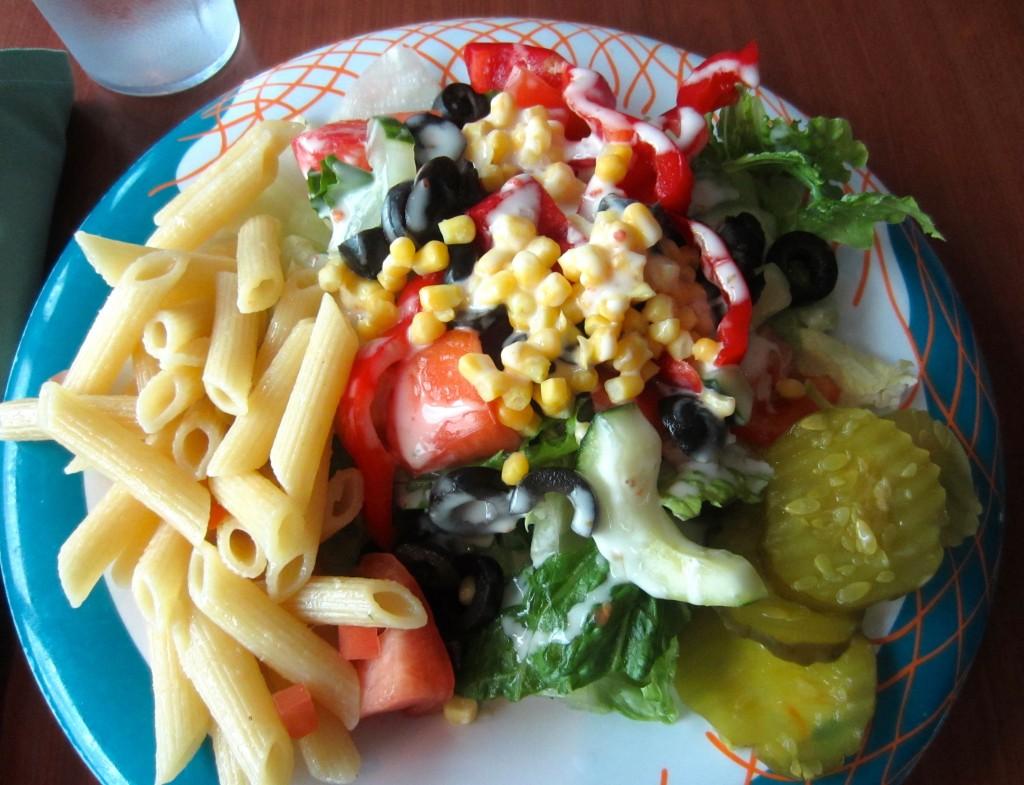 Healthy Salad on cruise