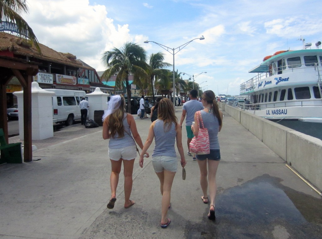 Walking in Nassau, Bahamas