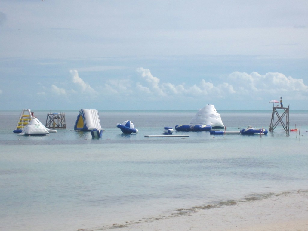 Cocoa Cay Water Obstacle Course