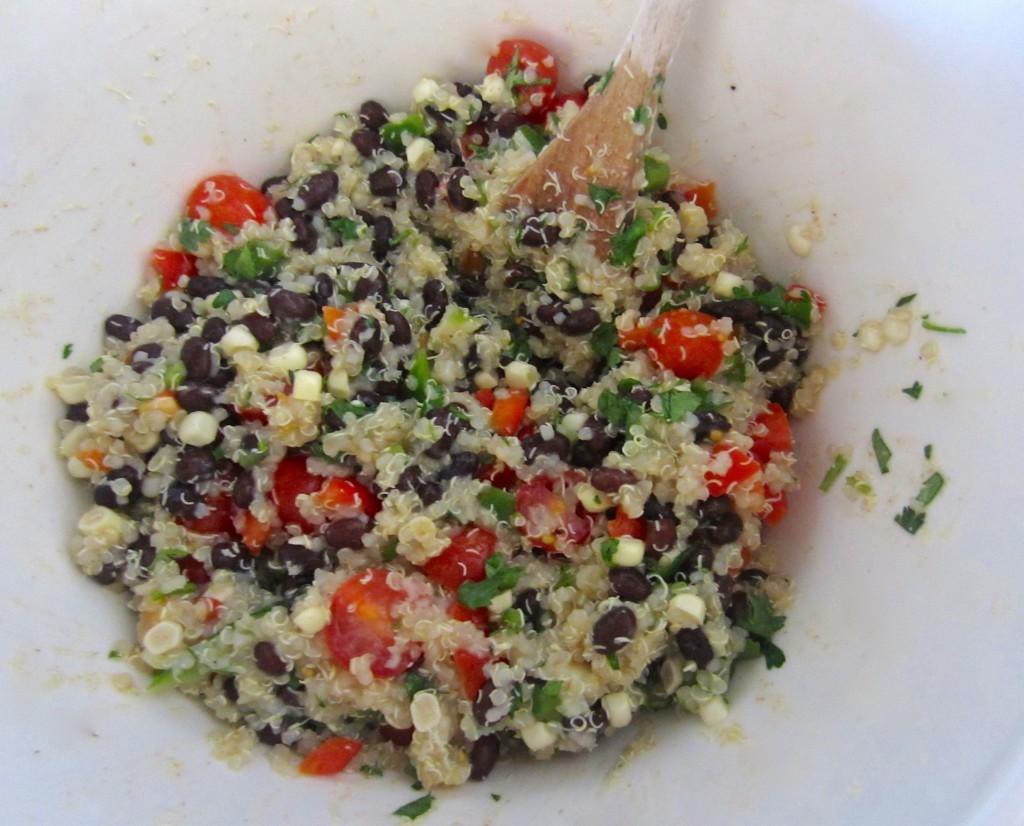 Mixing Quinoa