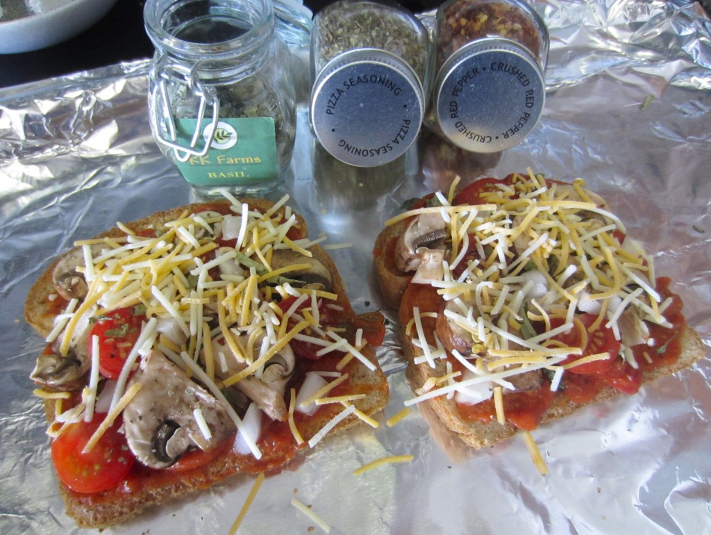 Pizza Toast ready for oven