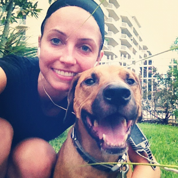 Running outside with Roadie