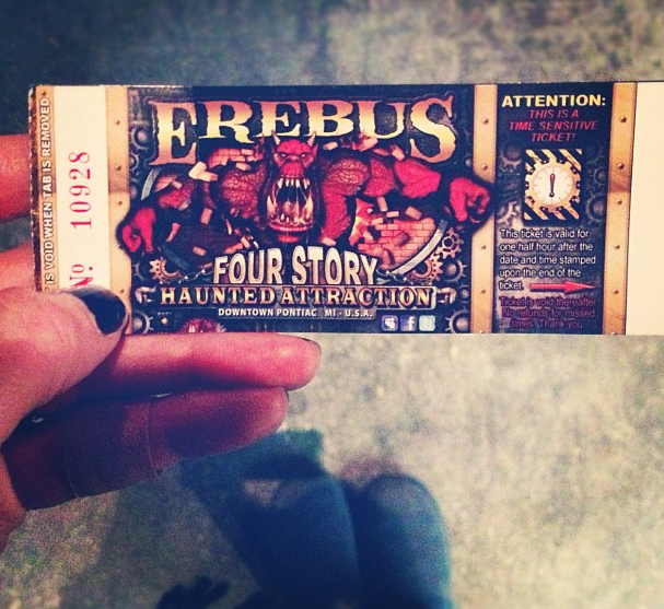 Erebus Haunted House Ticket