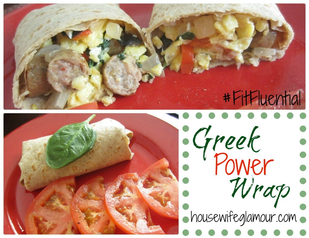 Healthy Greek Power Wrap