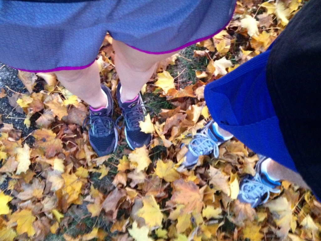 Running outside in fall