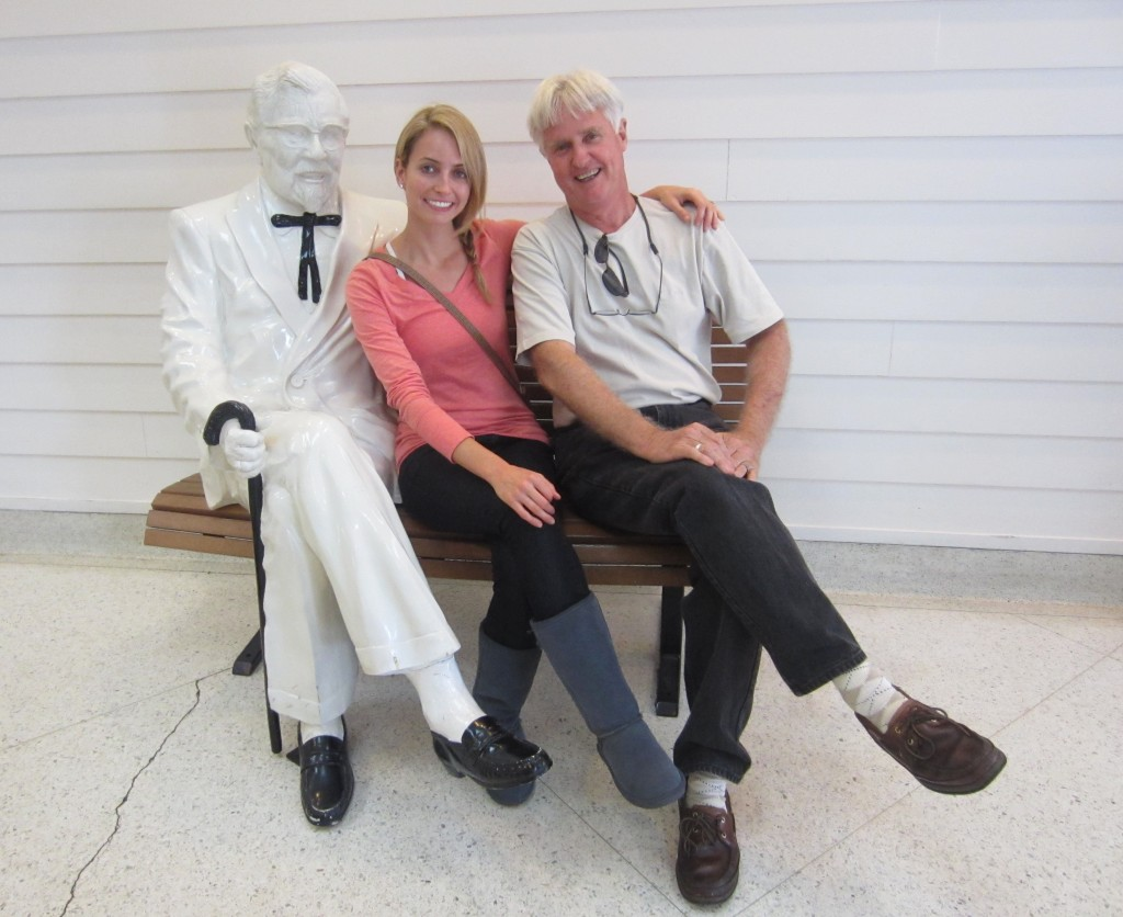 Sitting with Colonel Sanders