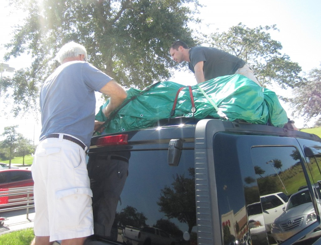 Situation Tarp on top of car