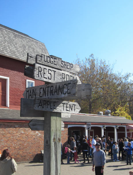 Yates Cider Mill Direction sign
