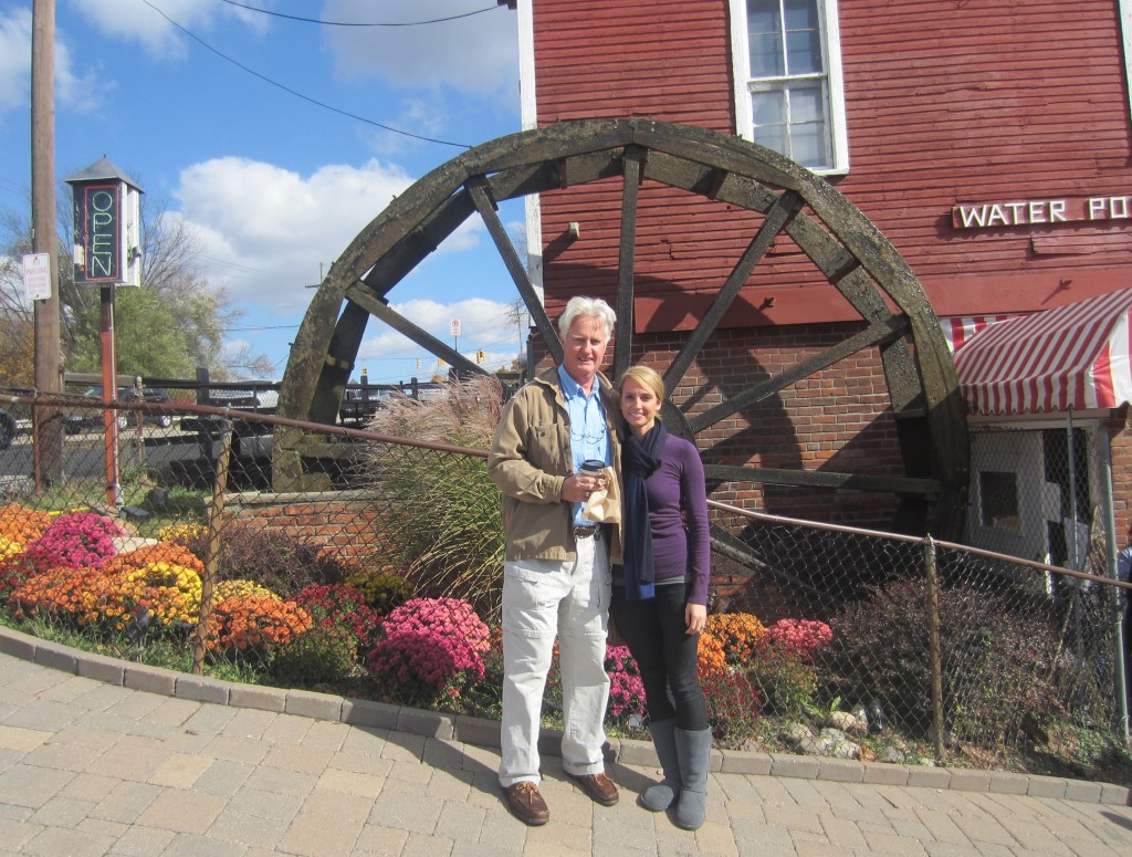 Yates Cider Mill in front of water mill