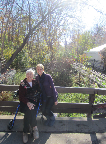 Yates Cider Mill with grandma