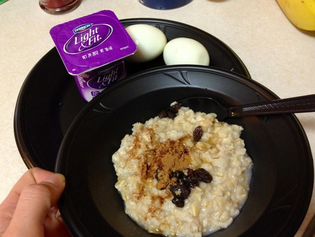 healthy hotel breakfast
