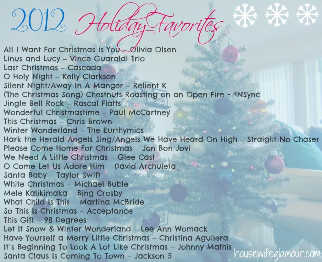 2012 Holiday Favorites Playlist