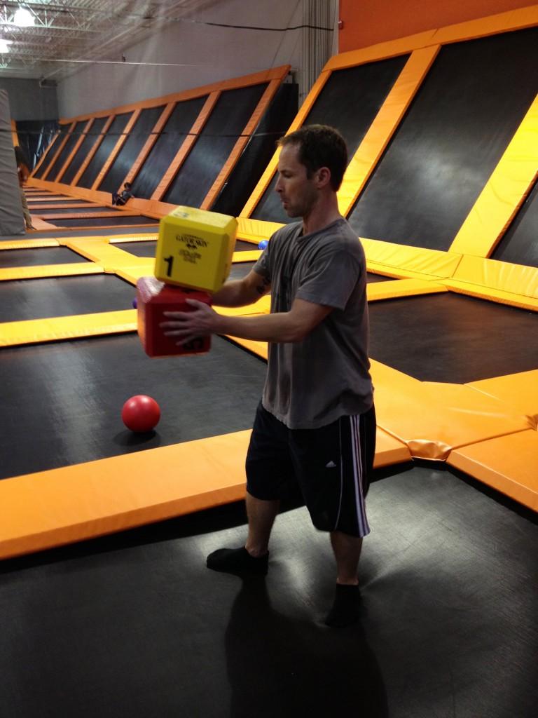 trampoline gym balls