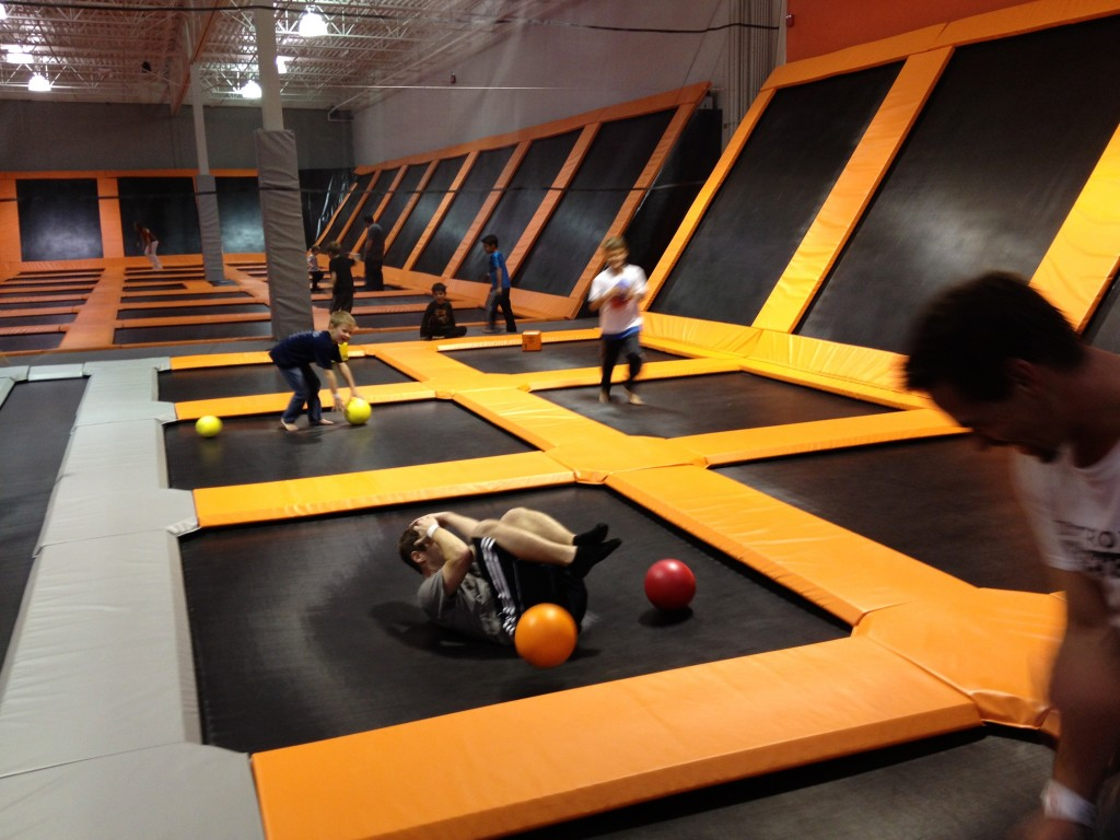 trampoline gym fun