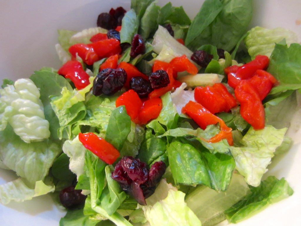 Red pepper feta and cranberry salad