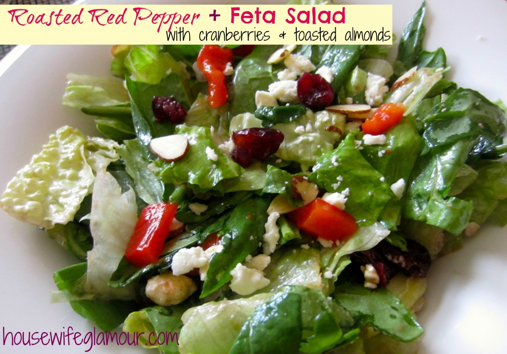 Roasted Red Pepper and Feta Salad Cover