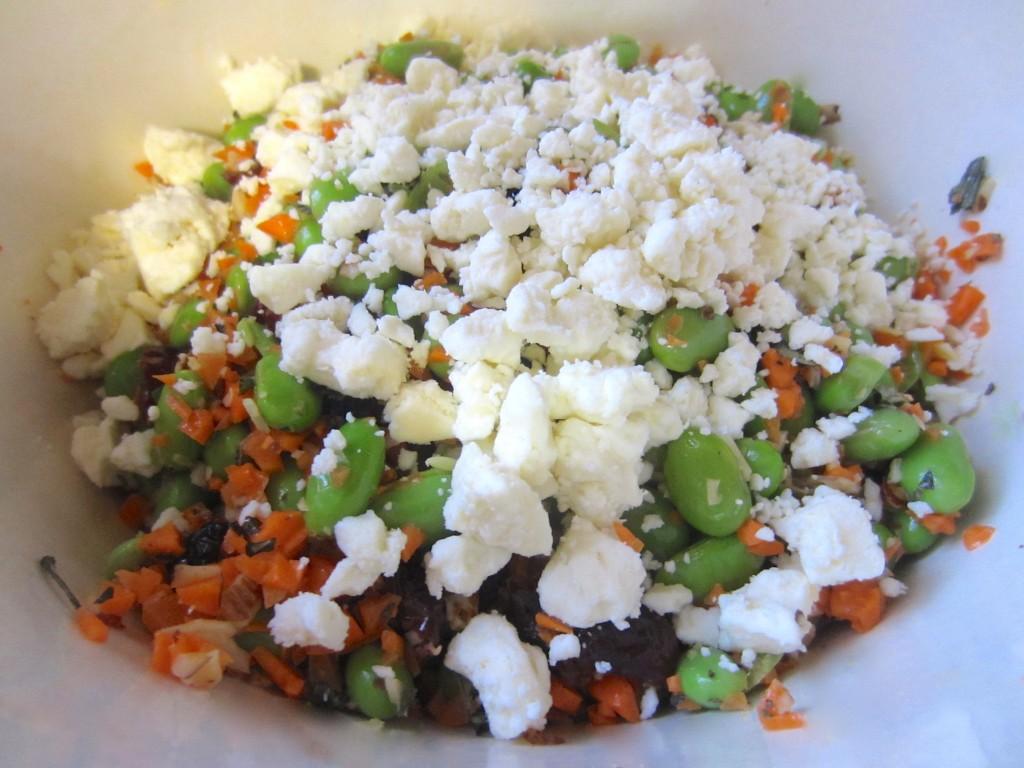healthy edamame salad with feta