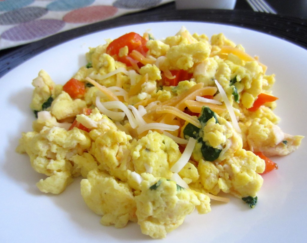 healthy vegetable scramble