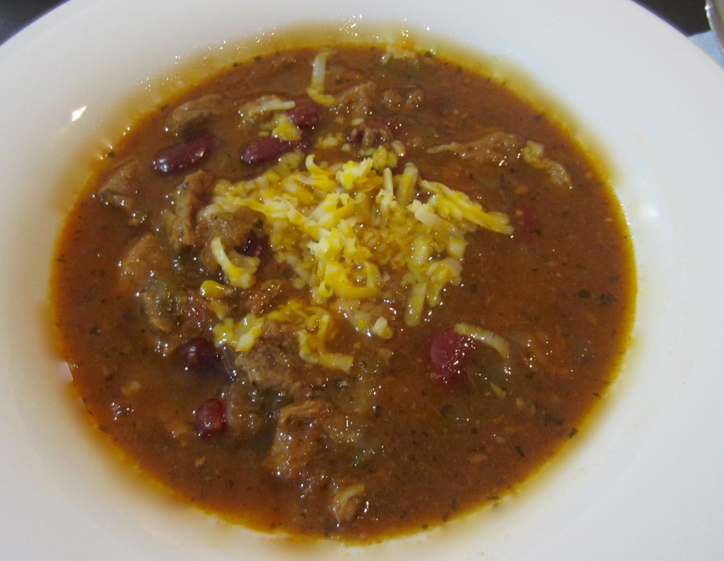 homemade spicy briskey chili
