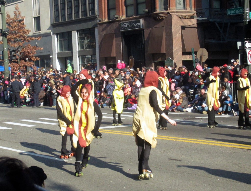 hot dogs in parade