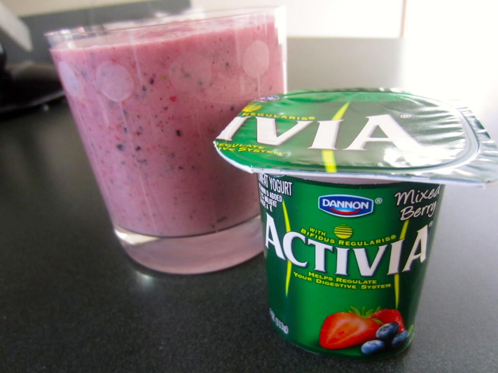 mixed berry activia smoothie