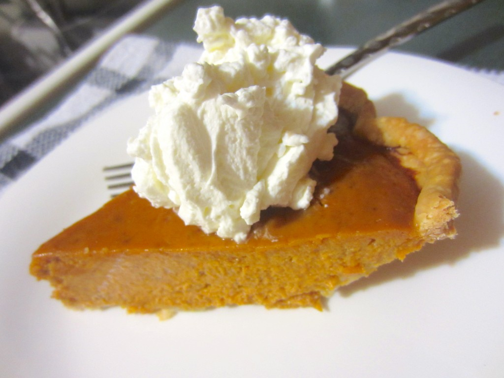 pumpkin pie and whip cream