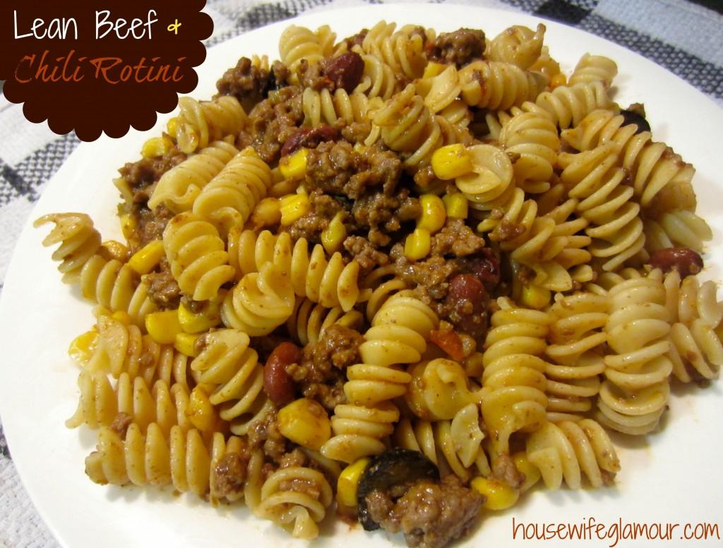 Lean Beef and Chili Rotini